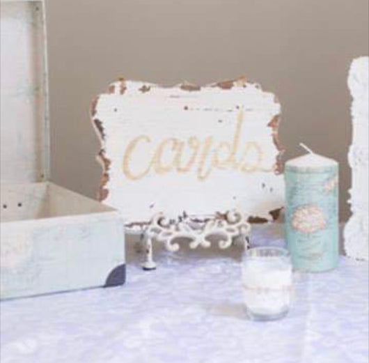 Shabby Chic Cards Sign