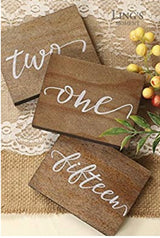 Rustic Calligraphy Table Numbers 1-15