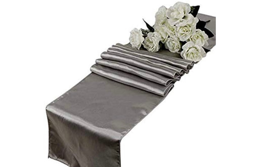 12 x 108 Silver Gray Satin Runner