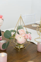 Tall Geometric Candle Holders