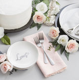 "Silver ""Love"" Cake Plate Set"