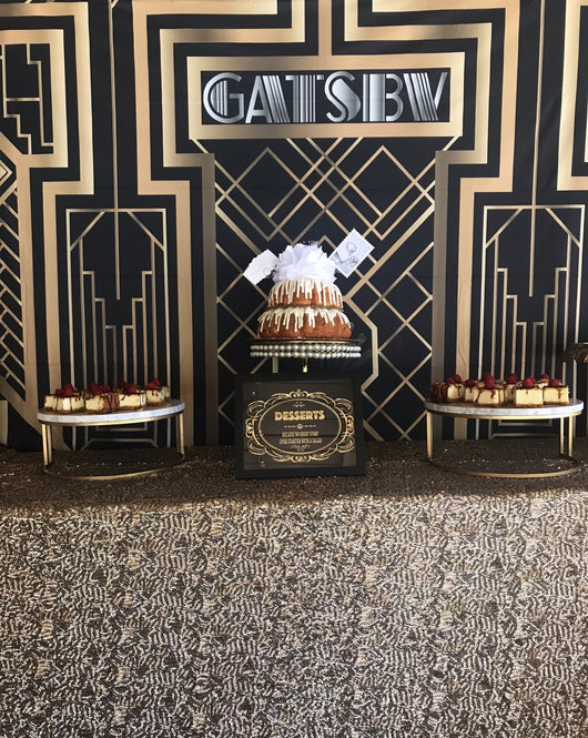 Great Gatsby Themed Backdrop (without stand)