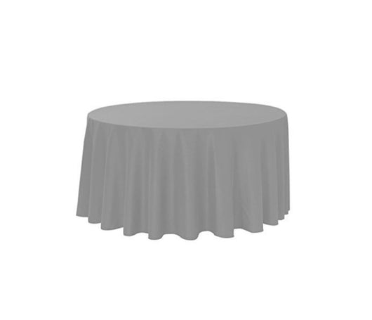 "120"" Gray Polyester Table Drape"