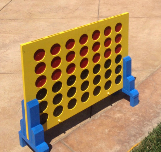 Connect Four Lawn Game