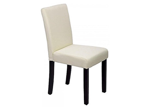 Ivory Linen Modern Dining Chairs