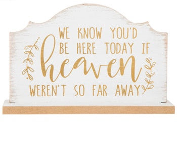 White & Gold Heaven Sign