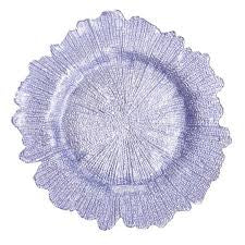 Lavender Reef Glass Charger Plate