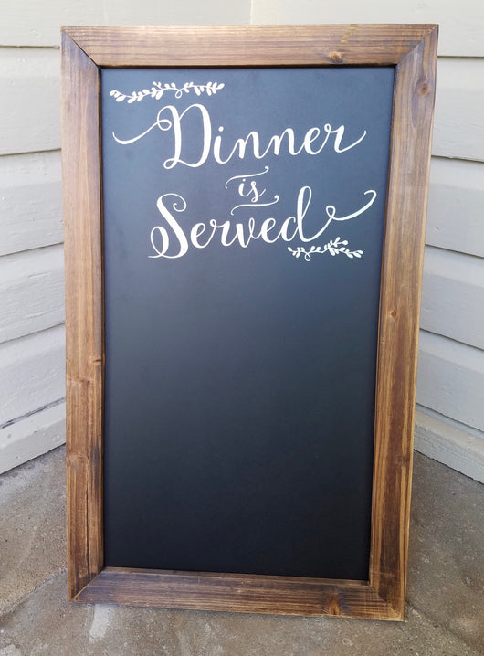 """Dinner is served"" Chalkboard"