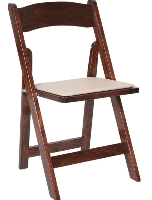 Wood Fruitwood Folding Padded Chairs