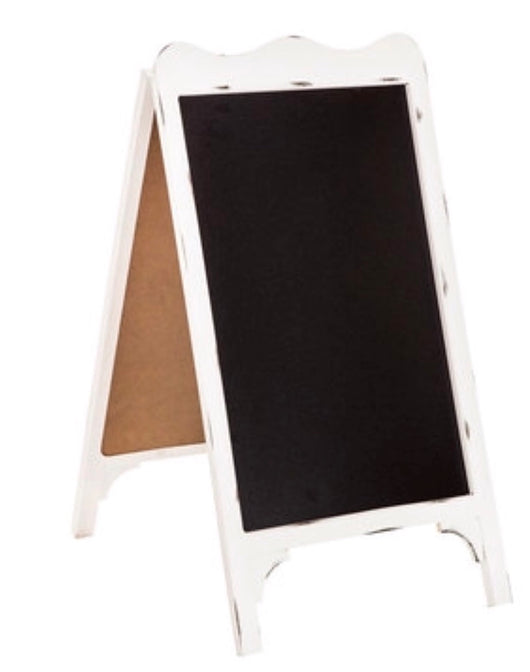 White Wood Chalkboard Easel
