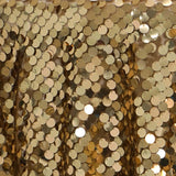 "120"" Big Payette Gold Sequin Table Drape"