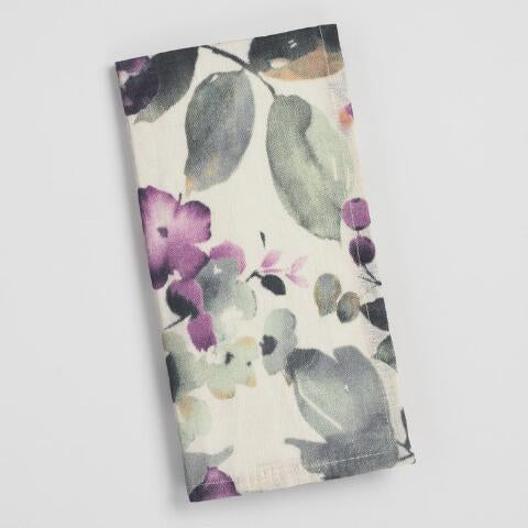 Lavender Watercolor Floral Napkins