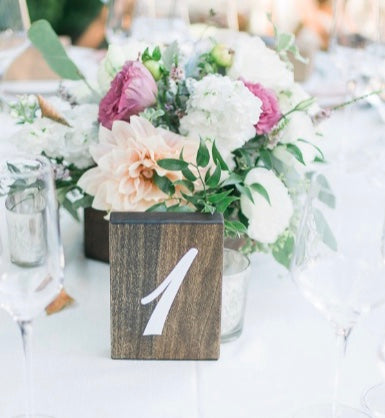 Rustic Numeric Table Numbers