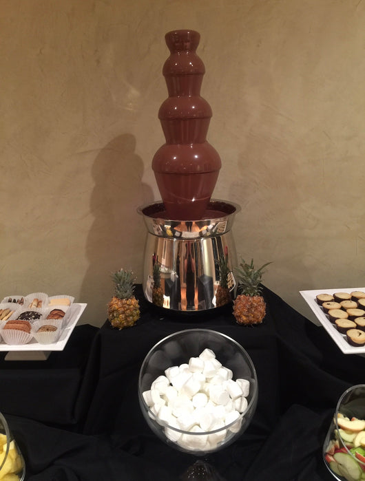 4 tier chocolate fountain