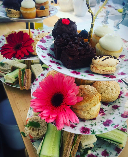 3 Tier Floral Tea Trays