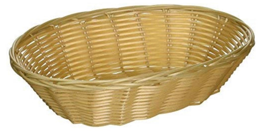 "9.5"" Woven Natural Colored Bread Basket"