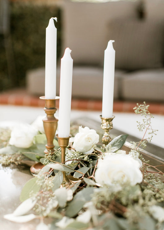 Brass Mismatched Candle Stick Holders