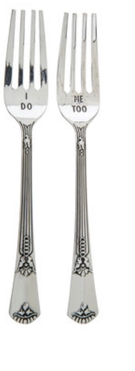 """I do, Me Too"" Silver Forks"