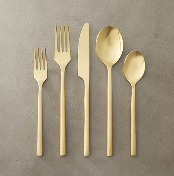 Rush Brushed Gold Flatware Collection