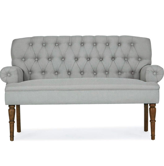 Grey Tufted Settee