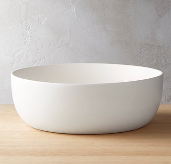 Crisp Matte White Serving Bowl
