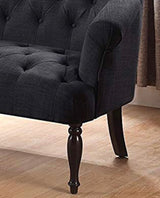 Charcoal tufted love seat