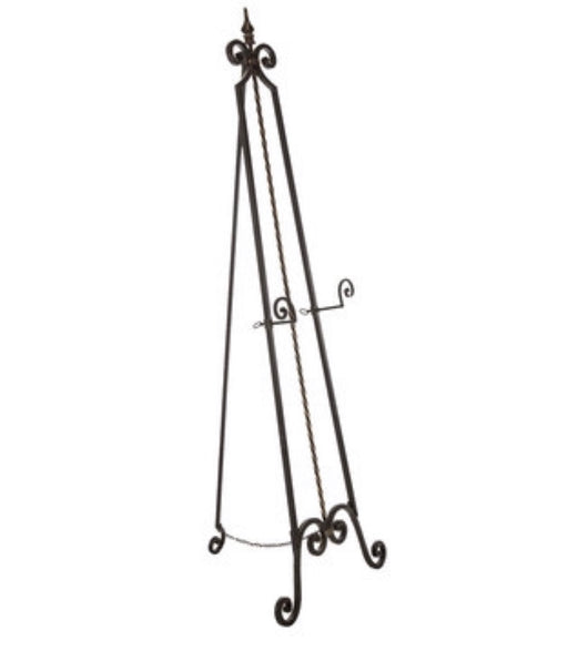 Black Wrought Iron Standing Easel