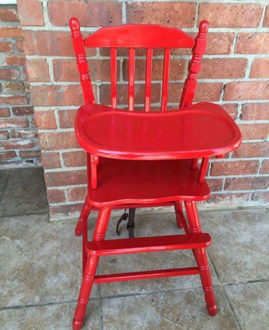 Red Vintage High Chair