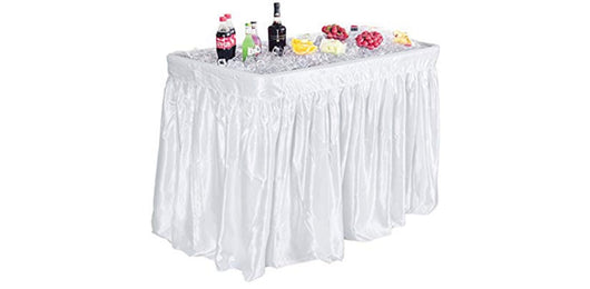 4' Chilling Table With White Skirt
