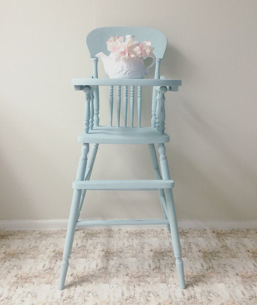 Baby Blue Vintage High Chair