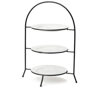 Black Wrought Iron 3 Tier Serving Tray