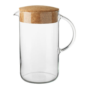 51 oz. Glass pitcher with cork lid