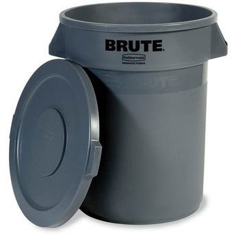 32 gallon Gray Trash Cans