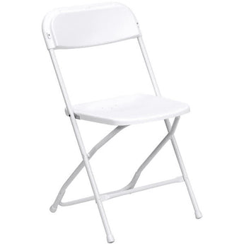 White folding samsonite chair