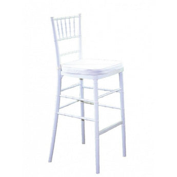 White Chiavari Barstool with white cushion