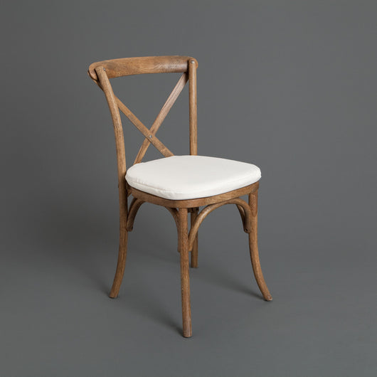 Pecan Cross Back Chair with Cushion