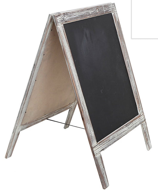 White Washed A-Frame Chalkboard