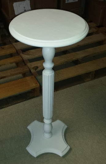 Small White Shabby Chic Pedestal Table