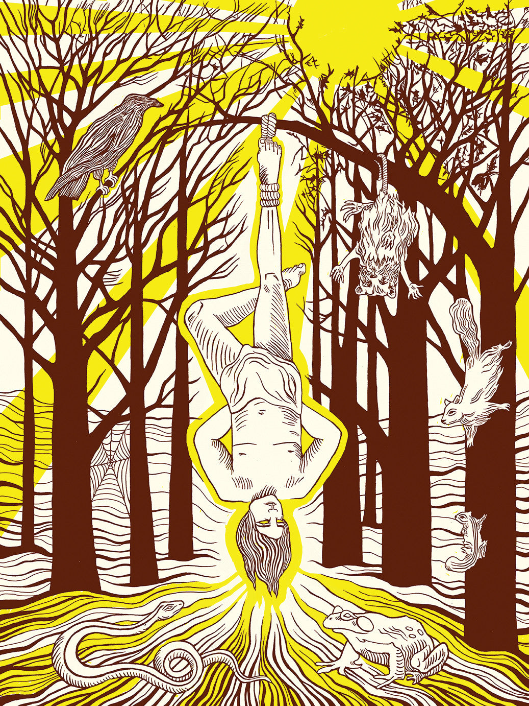 HANGED MAN TAROT SCREEN PRINT by KYLA QUIGLEY