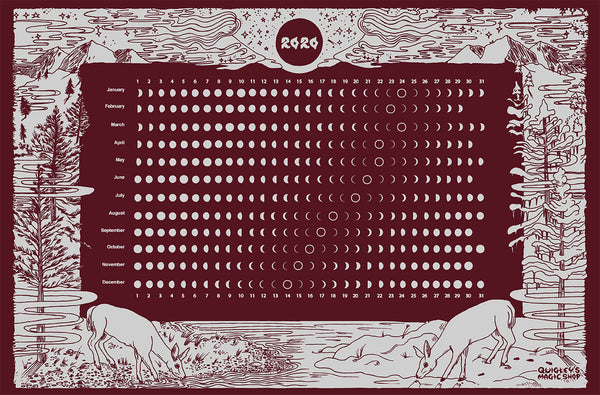 2020 LUNAR CALENDAR SCREEN PRINT by KYLA QUIGLEY