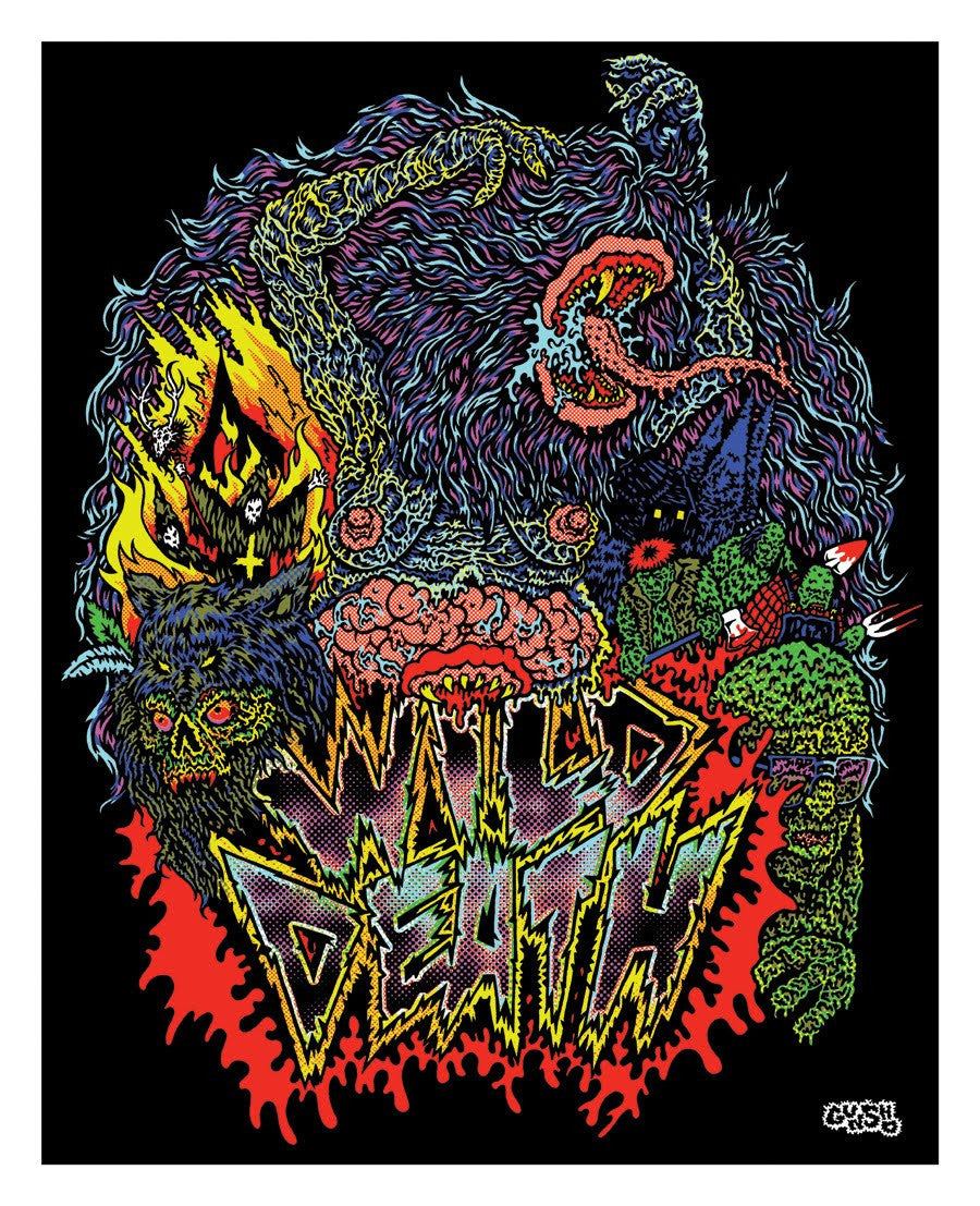 WILD DEATH BLACKLIGHT POSTER