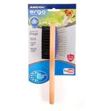 Ancol Ergo Deluxe Double Sided Brush, Dog brush, Ancol, Need Not Lift A Paw Limited