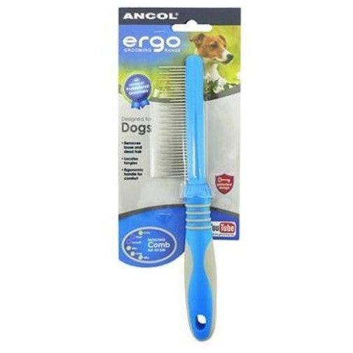 Ancol Ergo Plastic Moulting Comb, Dog comb, Ancol, Need Not Lift A Paw Limited