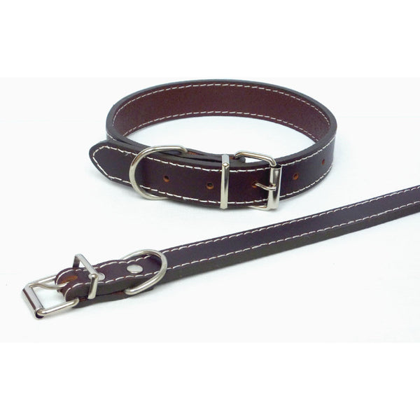 Plain Brown Leather Collar, Dog collar, The Paws, Need Not Lift A Paw Limited
