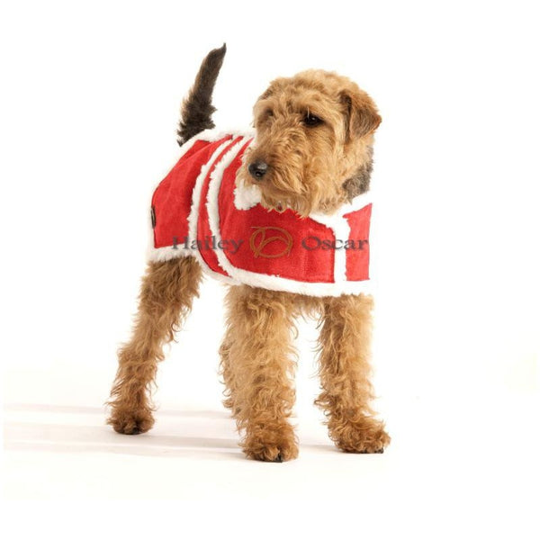 Hailey & Oscar Christmas Red Wool Dog Coat, Dog coat, Hailey & Oscar, Need Not Lift A Paw Limited
