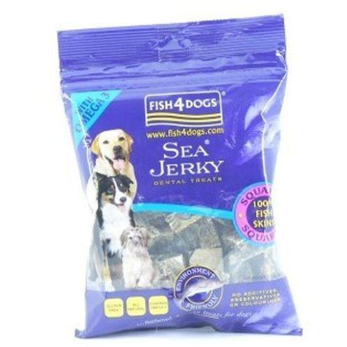 Fish4Dogs Sea Jerky Squares 100g, Dog treat, Fish4Dogs, Need Not Lift A Paw Limited