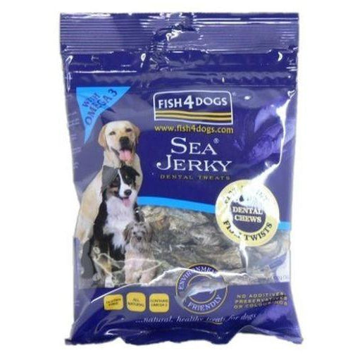 Fish4Dogs Sea Jerky Fish Twists 100g, Dog treat, Fish4Dogs, Need Not Lift A Paw Limited