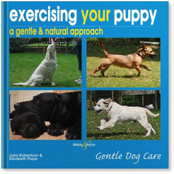 Exercising your puppy: a gentle & natural approach, Human puppy book, Hubble & Hattie - Need Not Lift A Paw Limited