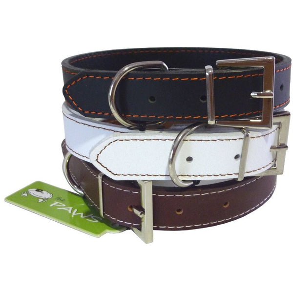 Top Grain Leather Collar, Dog collar, The Paws, Need Not Lift A Paw Limited