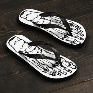 Skeleton Bone Flip-Flops